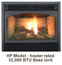 Tasman Gas Fireplace Heater Rated HP Model